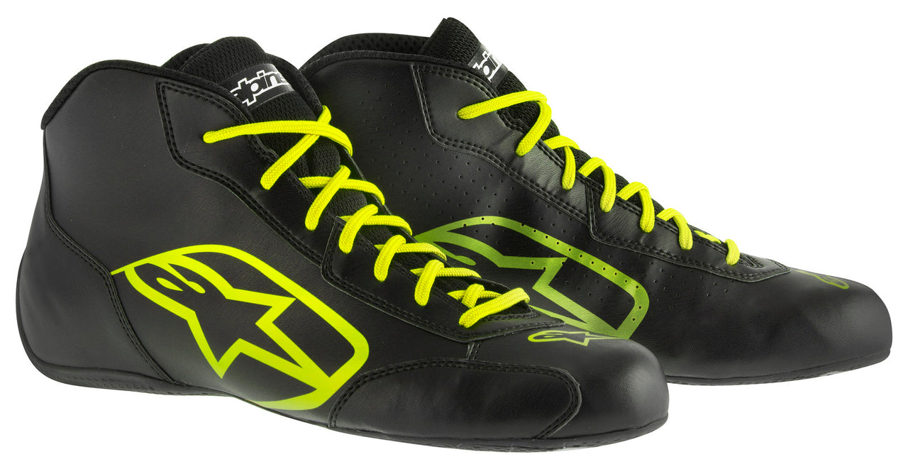 A/STARS -TECH 1-K START BOOTS-BLACK/FLURO YELLOW-35