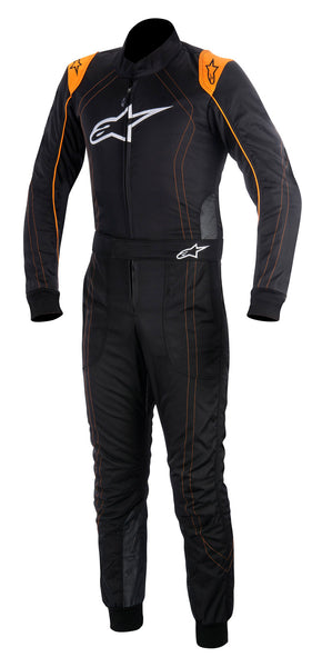 A/STARS -KMX-9 SUIT-BLACK/FLURO ORANGE- 48