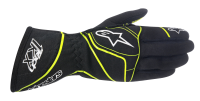 A/STARS -TECH 1-K GLOVES-BLACK/FLURO YELLOW- S