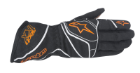 A/STARS -TECH 1-KX GLOVES-BLACK/FLURO YELLOW- L