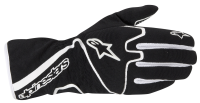 A/STARS -TECH 1-K RACE GLOVES-BLACK/WHITE- L