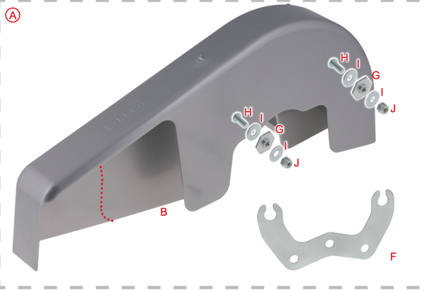 2017 Complete Integrale Chain Guard Mount Kit OTK