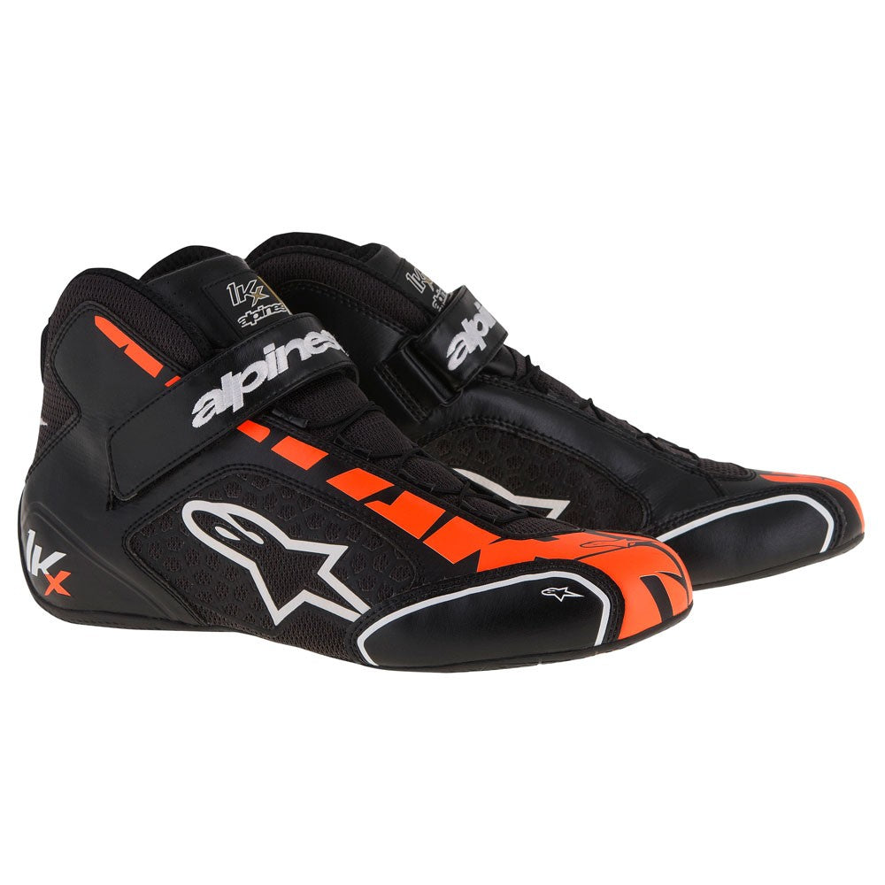 A/STARS -TECH 1-KX BOOTS-BLACK/WHITE/ORANGE-40