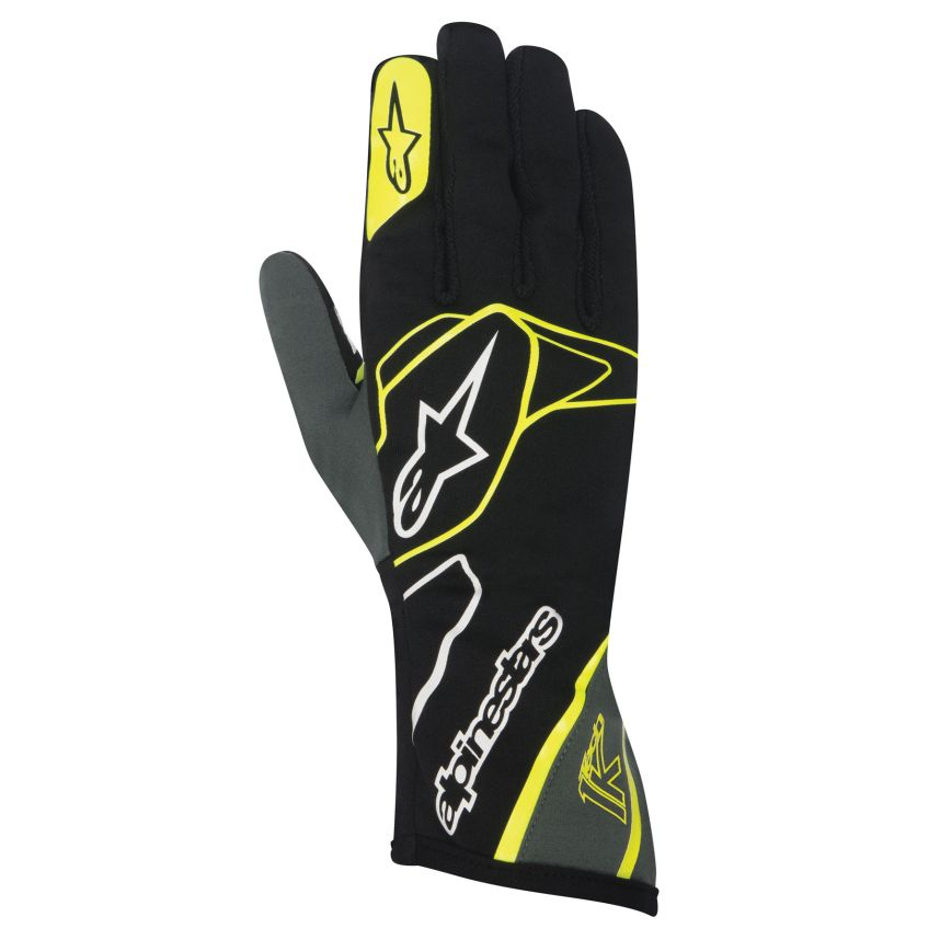 A/STARS -TECH 1-K GLOVES-BLACK/ANTHRACITE/YELLOW XXL
