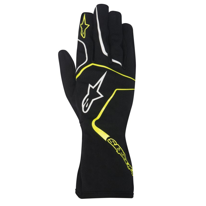 A/STARS -TECH 1-K RACE S. GLOVES-BLACK/YELLOW-L - Youth