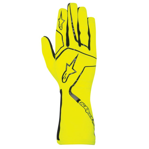 A/STARS -TECH 1-K RACE GLOVES-YELLOW/BLACK- M