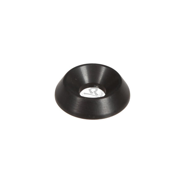Aluminium Countersunk Washer 18x6mm - BLACK