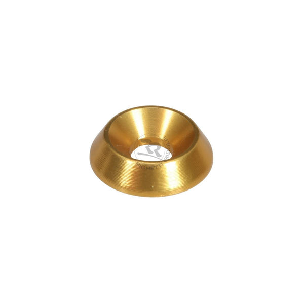 Aluminium Countersunk Washer  18x6mm - Gold