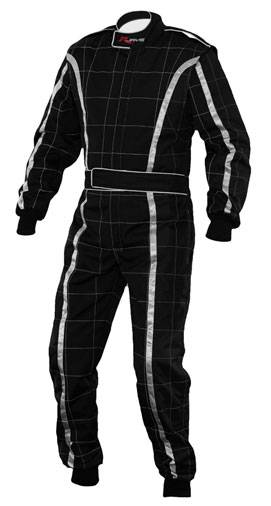 RJAYS Racestar Level 2 Kart Suit Adult BL/SIL/BL (LG)