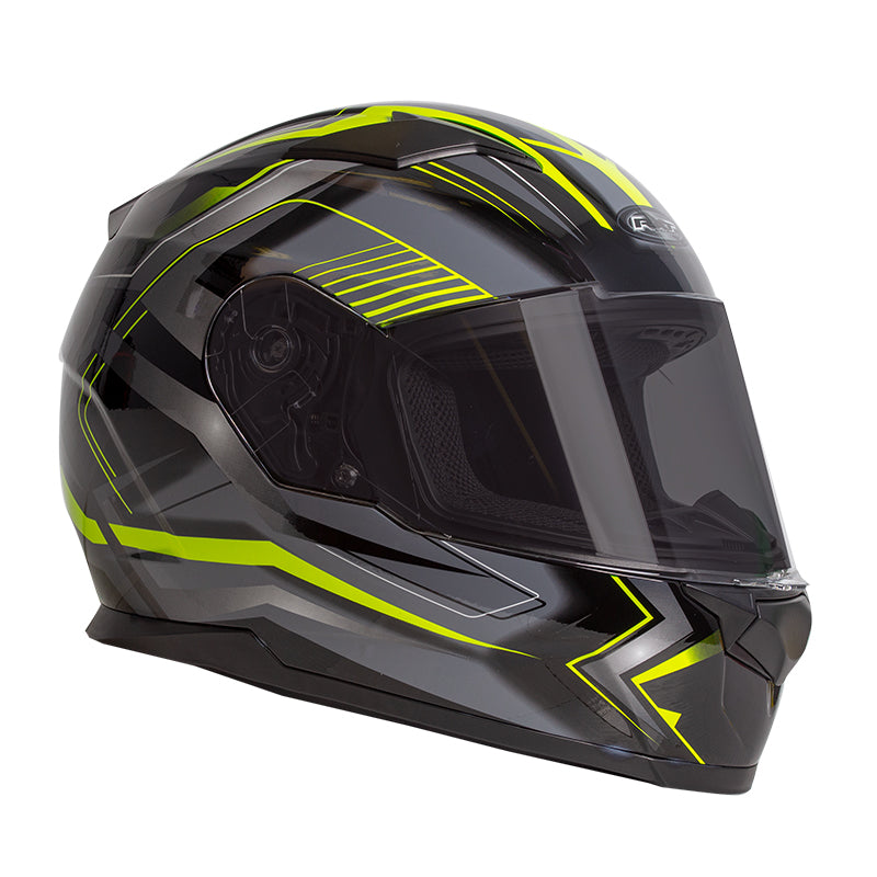 RXT Zed Helmet - Full Face Black/Yellow XL
