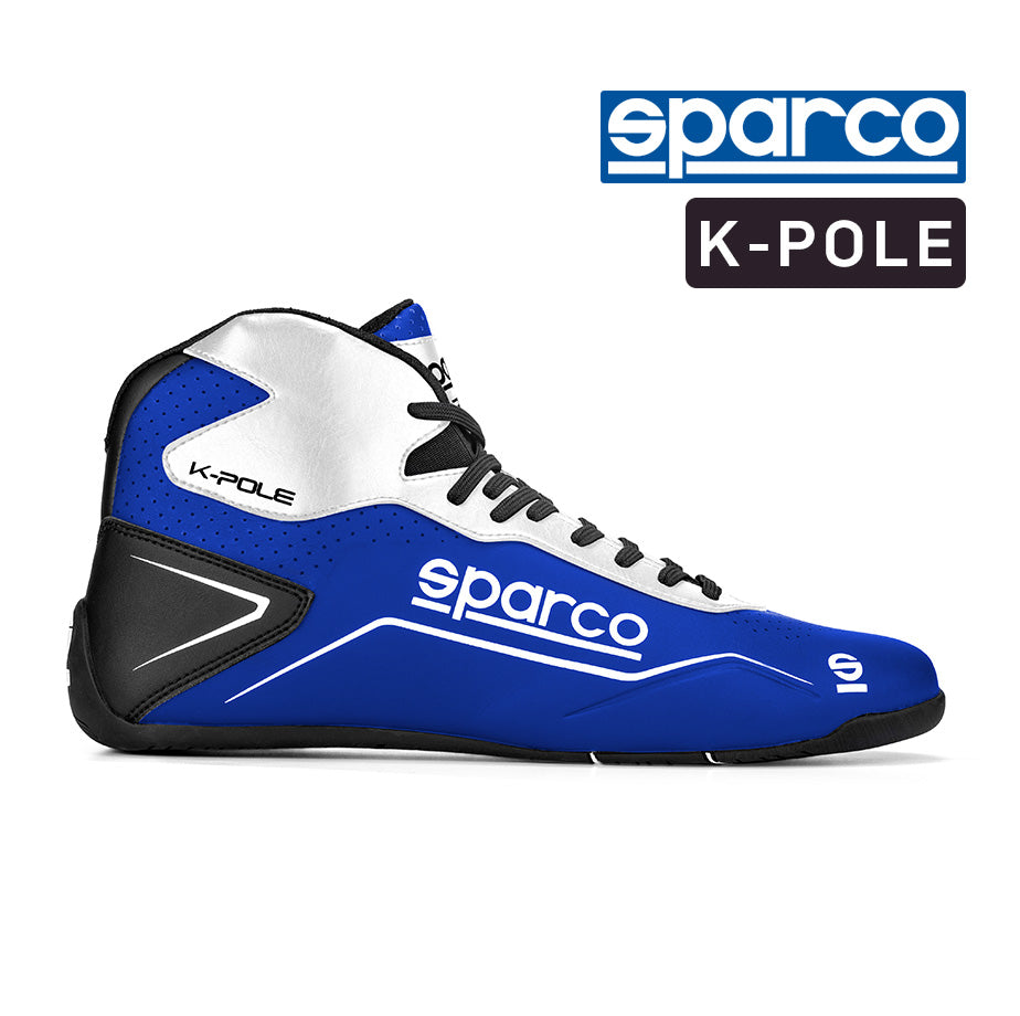 Sparco K Pole Boot - White Blue Size 43