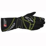 A/STARS -TEMPEST RAIN GLOVES-BLACK/FLURO GREEN- XL