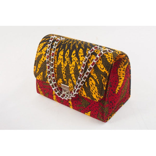 RED/YELLOW TEWA ANKARA AFRICAN PRINT BAG