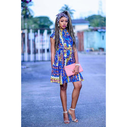 Remi Multicolor Ankara African Print Dress