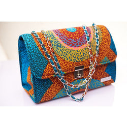 MUTICOLORED TEWA ANKARA AFRICAN PRINT BAG