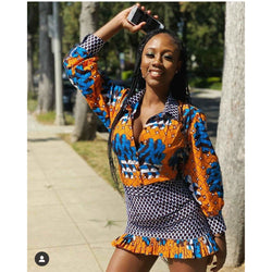 Foluke Multicolor Ankara African Print Two Set