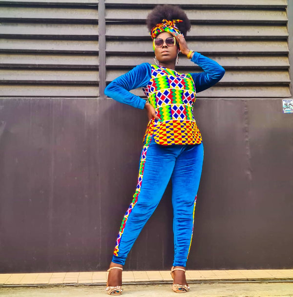 Abifoluwa Multicolor Ankara African Print Two Set - READY TO SHIP