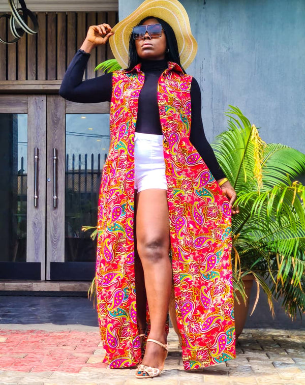 Abeni Multicolor Ankara African Print Two Set - READY TO SHIP