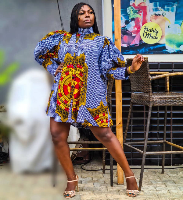 Aderiyike Multicolor Ankara African Print Dress - READY TO SHIP