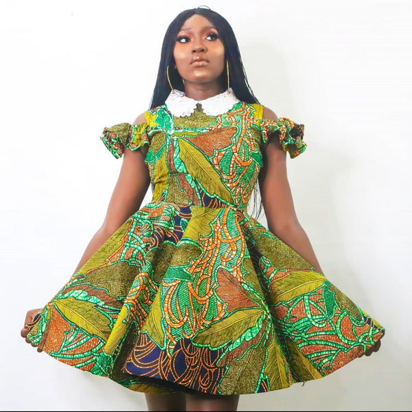 Linda Multicolor Ankara African Print Dress