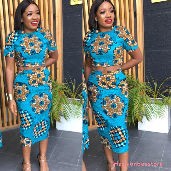 Rita Ankara African Print Two Set Dress