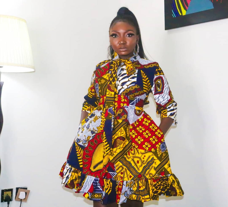 Anna Multicolor Ankara African Print Dress