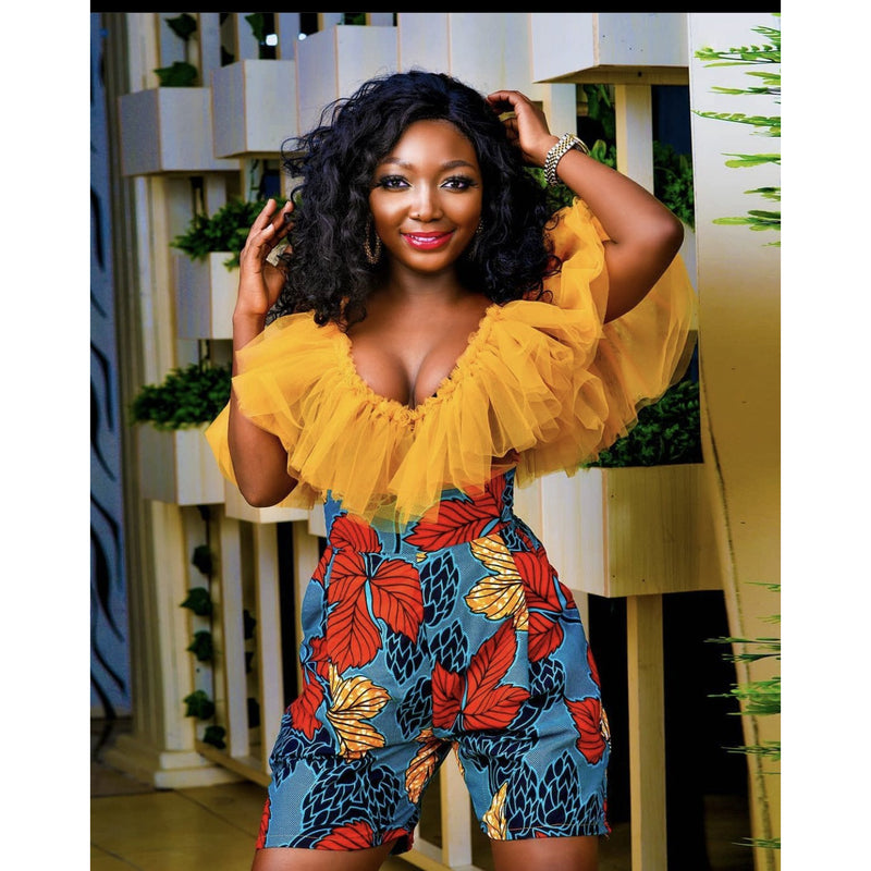 Chioma Multicolor Ankara African Print Rompers