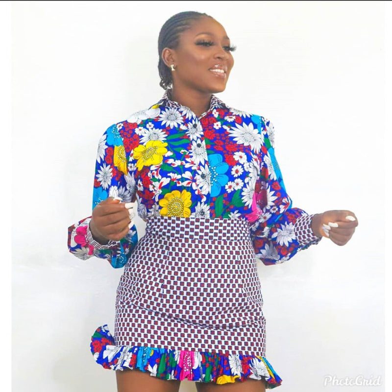 Nkechi Multicolor Ankara African Print Two Set