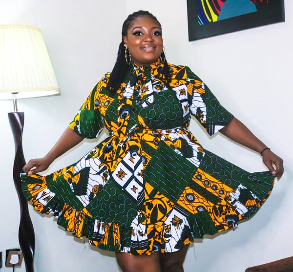 Diana Multicolor Ankara African Print Dress