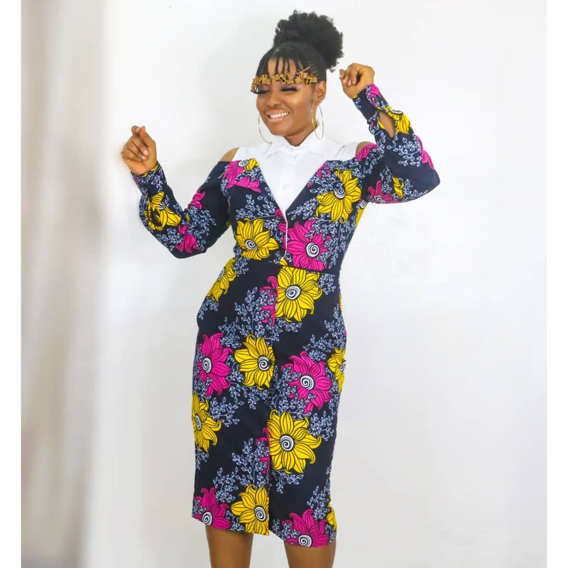 Bunmi Multicolor Ankara African Print Dress