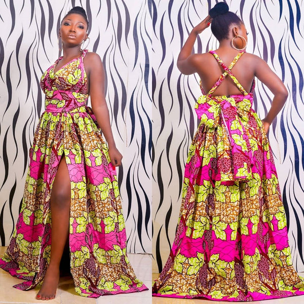 Abidemi Multicolor Ankara African Print Dress