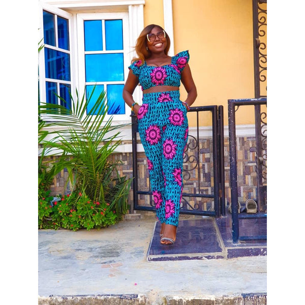 Nnenna Multicolor Ankara African Print Two Set
