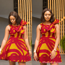 Chiamaka Multicolor Ankara African Print Dress