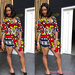 Chizoba Multicolor Ankara African Print Dress