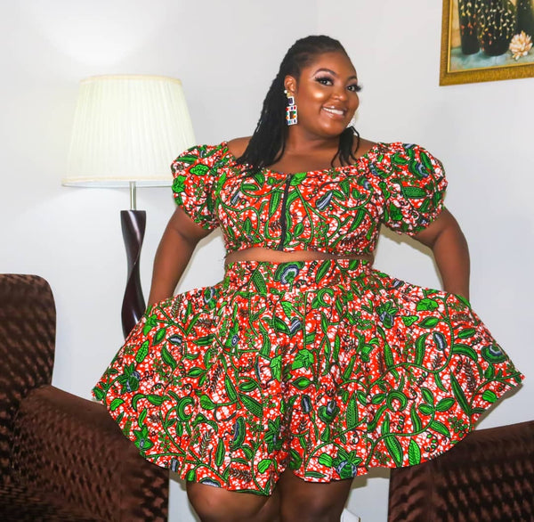 Busola Multicolor Ankara African Print Dress