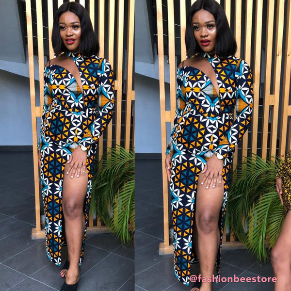Lily Multicolor Ankara Print Dress