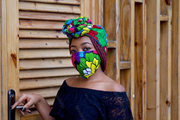 Fashion Bee Boutique - Ankara Green/Yellow Set