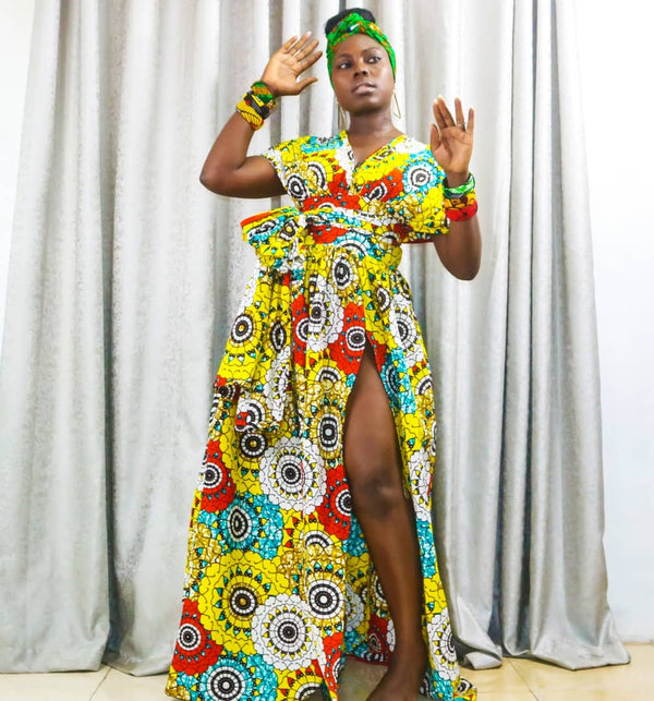 Tayo Multicolor Ankara African Print Dress