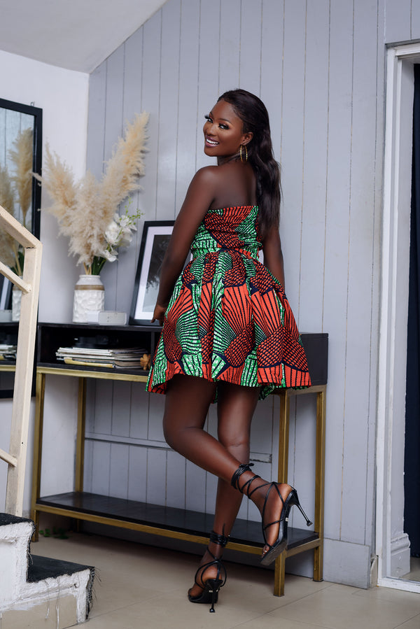 Adaolisa Multicolor Ankara African Print Dress