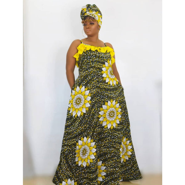 Bukola Multicolor Ankara African Print Dress