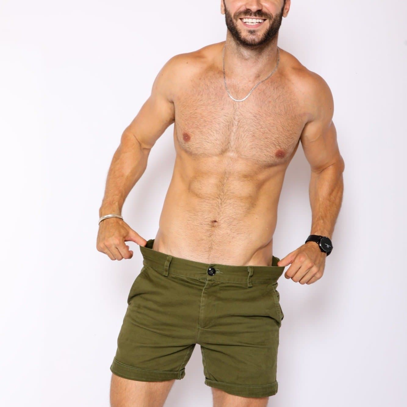 Olive Slim Fit Shorts