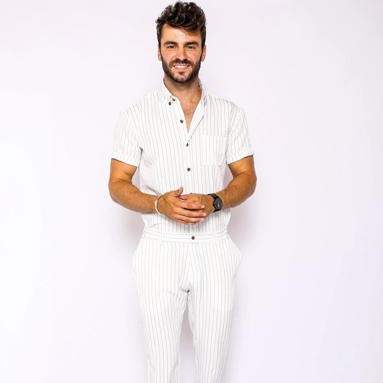 White Chateaux Jumpsuit - RomperJack, Mens Jumpsuit - Male Romper