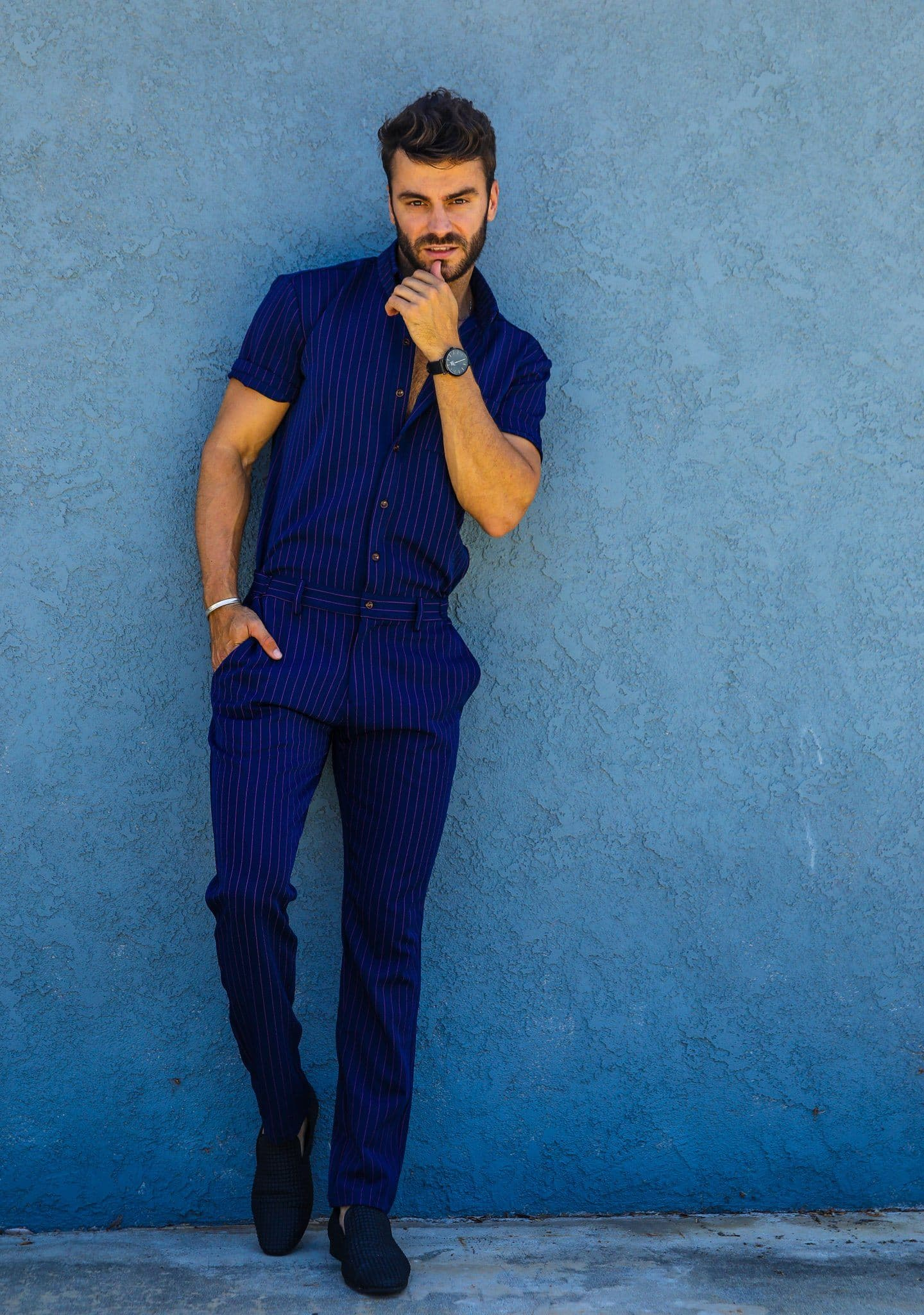 Navy Chateaux Jumpsuit - RomperJack, Mens Jumpsuit - Male Romper