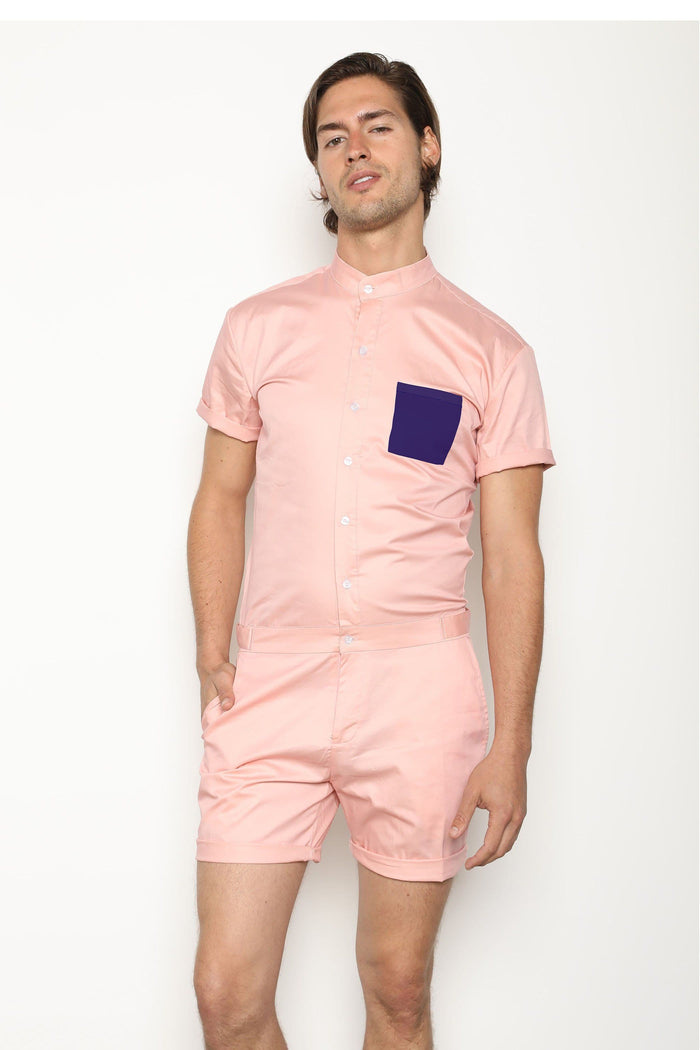 The Limited Edition California Two-Tone in Pink - RomperJack, Mens Romper - Male Romper