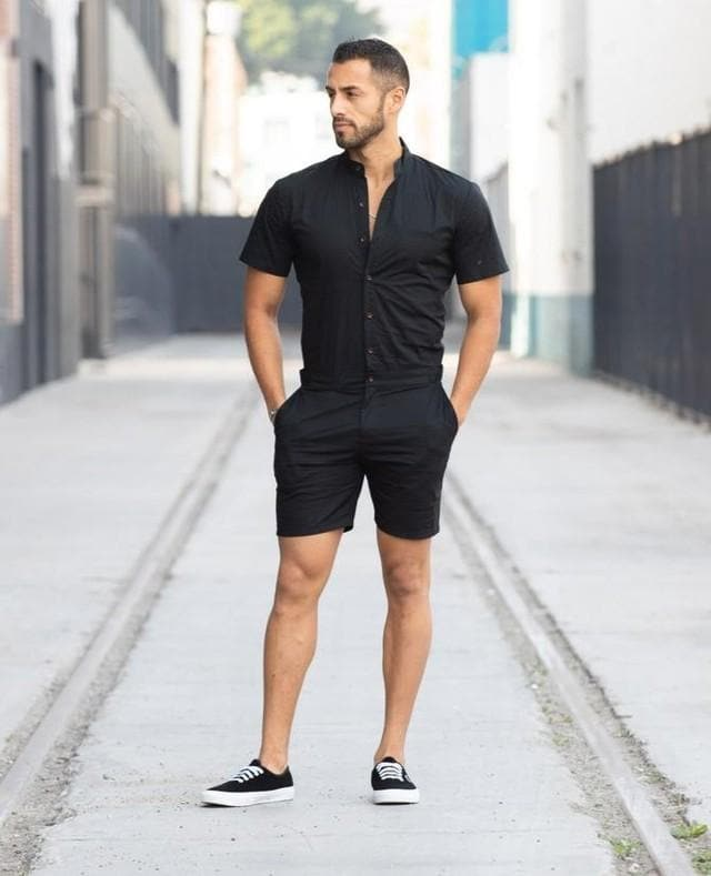 Black RomperJack - RomperJack, Mens Romper - Male Romper