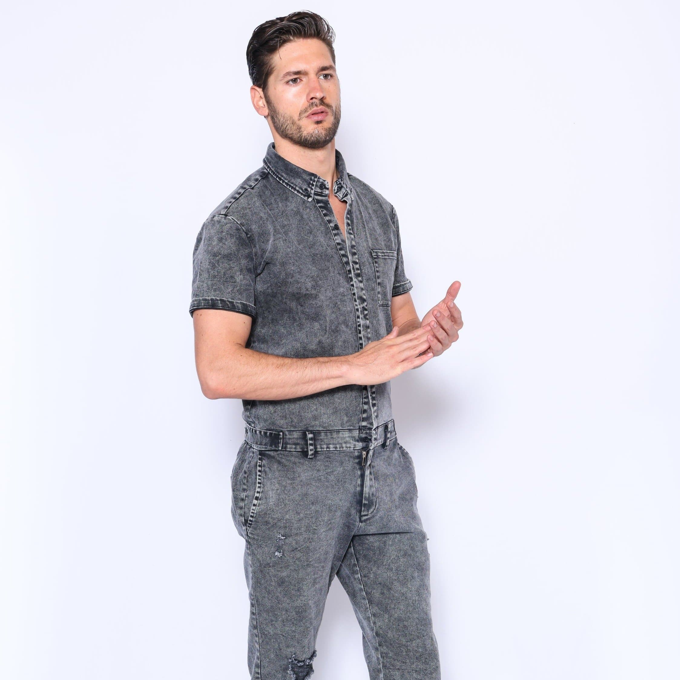 Mens Denim Jumpsuit