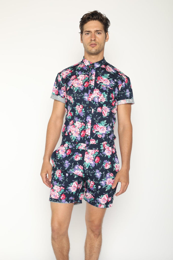 Premium Navy Hawaiian (PRE ORDER) - RomperJack, Men's Romper - Male Romper