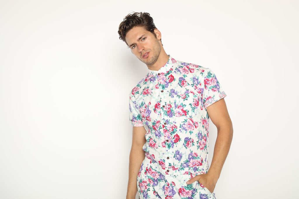 White Hawaiian - RomperJack, Men's Romper - Male Romper