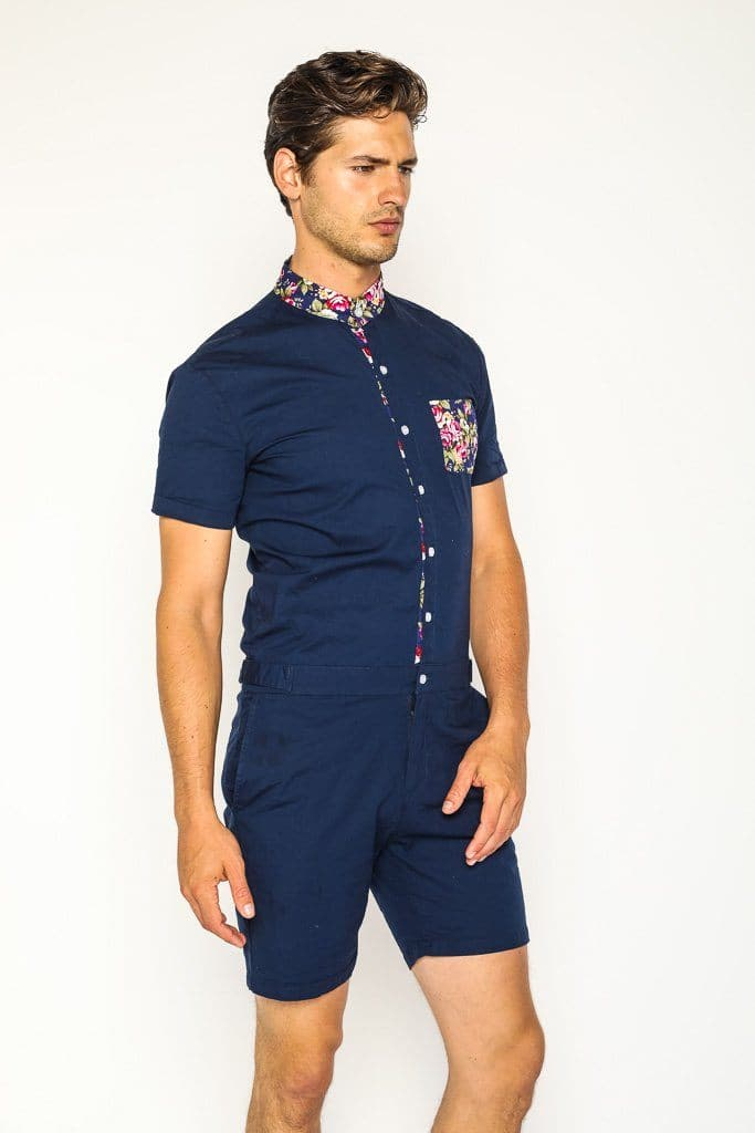 9eea90430d5b7 Navy Rosè Romper. Stylish Mens Rompers and Jumpsuits - RomperJack