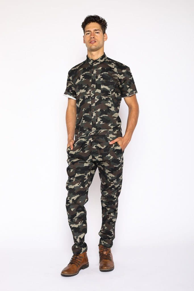 4154cc4209b26 Men's Camo Jumpsuit - On Sale Now - RomperJack